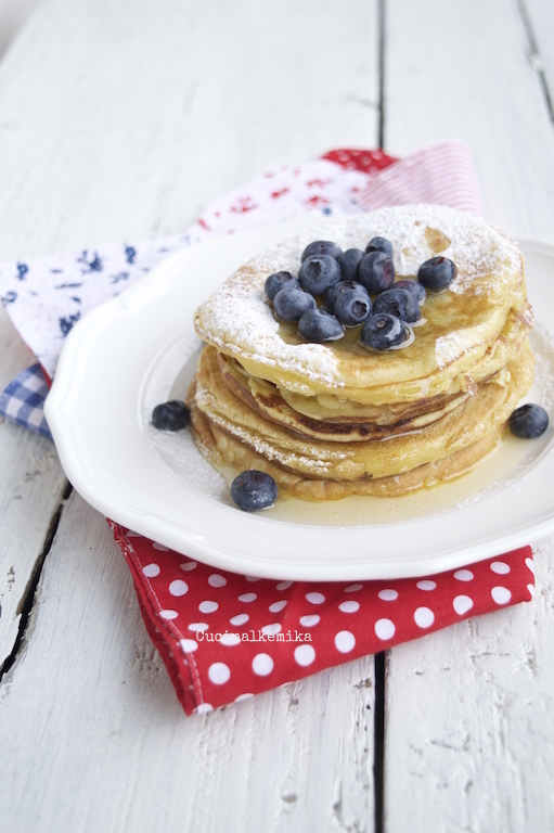 Cucinalkemika pancakes al latticello