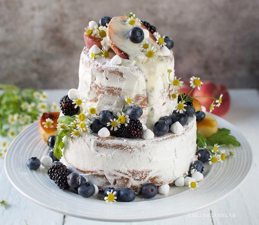 Cucinalkemika Sweet potato blueberry cake