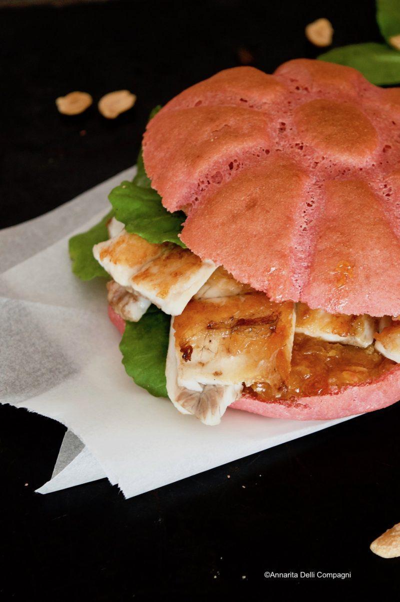 Cucinalkemika panino di rapa rossa alla spigola